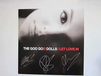 GOO GOO DOLLS Let Love in Promo poster 12x12 hand AUTOGRAPHED