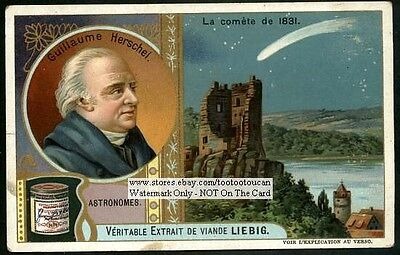 Astronomer Herschel Comet 1831 Science Astronomy c1906 Trade Ad Card
