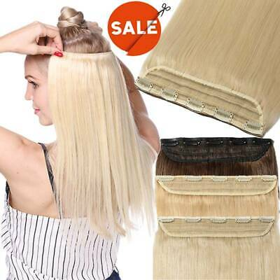 Remy Real Best Clip In On 100% Human Hair Extension One Piece 3/4 Full Head EA6
