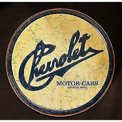 Chevy Historic Logo Tin Sign 12 x 12in New