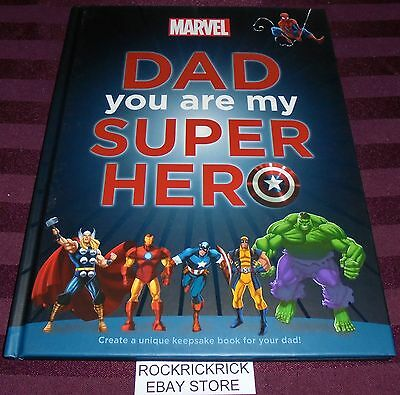 Dad You Are My Super Hero Book (Marvel) Unique Keepsake Book For Your Dad
