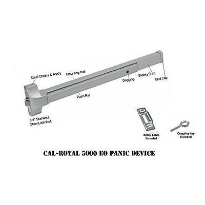 "Cal-Royal 36"" Push Bar Panic Exit Device, Aluminum New"