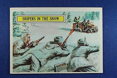 1965 Topps Battle Cards - #20 Snipers In The Snow - Excellent++ Condition