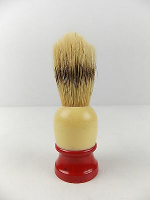 Vintage Ever Ready Shaving Brush Number 100 Red & Cream Handle #1231
