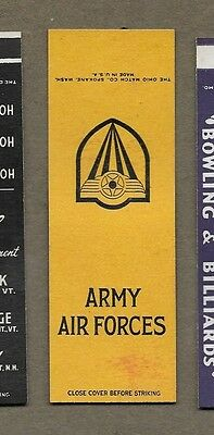 Ww2 U.s Army Air Forces Flat Matchcover A472