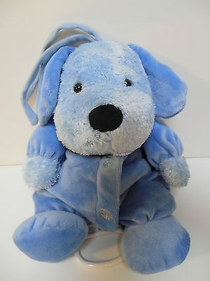 Carters Child of Mine blue Puppy Dog SOFT PLUSH Music baby crib pull toy MINT