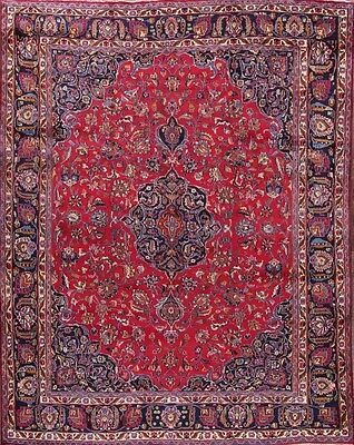 "Great Deal Hand Knotted 10x12 Mashad Persian Oriental Area Rug 12' 2"" x 9' 8"""