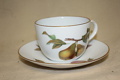 Royal Worcester  Evesham Gold Large Cup And Saucer 6351