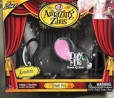 The Amazing Zhus Stunt Pet Kardini Gray Mouse Battery Operated Toy New In Box