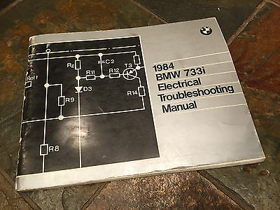 1984 bmw e23 733i electrical troubleshooting wiring diagram manual