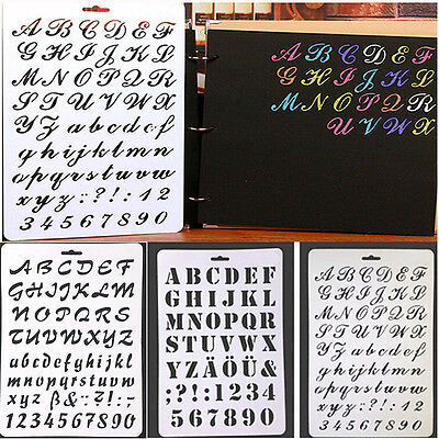 Number Letter Alphabet Layering Stencils Painting Scrapbooking Paper Cards Craft