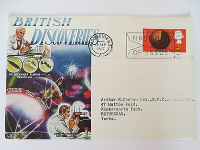 BRITISH DISCOVERIES COMMEMORATIVE STAMPS 1967 GB First Day Cover