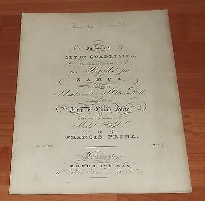 Victorian Sheet Music..an Admired Set Of Quadrilles.