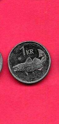 ICELAND KM27a 2003 XF-AU EXCELLENT MINT KRONA FISH COIN