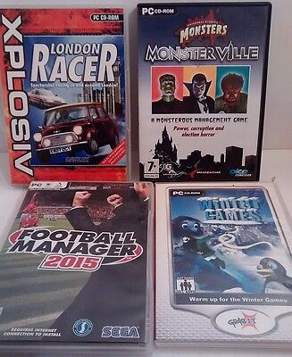 Vintage Lot of 4 PC Games With Discs & Boxes #7