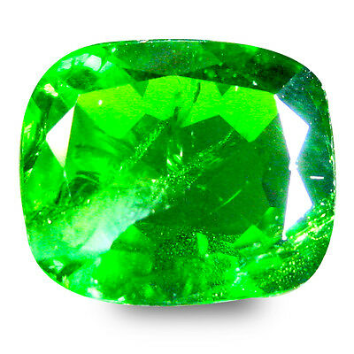 5.21 ct  Marvelous Cushion Shape (11 x 10 mm) Green Chrome Diopside Gemstone