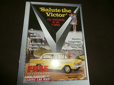 Vauxhall VICTOR F booklet. Salute the Victor.celebrating the 40th anniversary