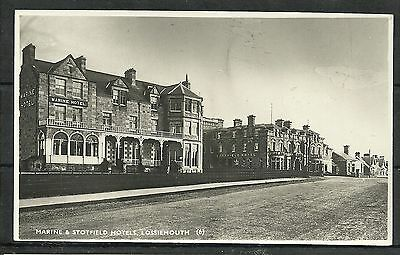Postcard : Lossiemouth the Marine and Stotfield Hotels