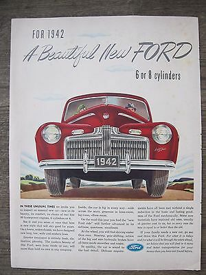 Automobile Advertisement 1942 Ford