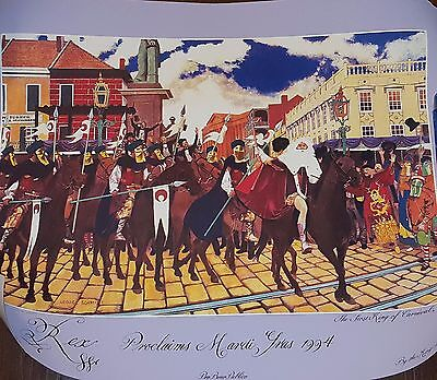 Rex, 1994, New Orleans Mardi Gras Poster Signed and Numbered B5003.