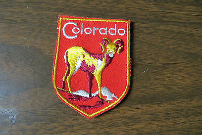 State of Colorado with big horned sheep souvenir beautiful collectable old patch