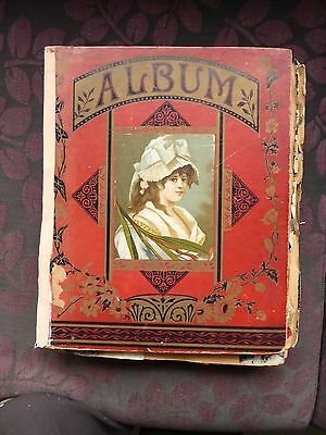 LARGE VICTORIAN EDWARDIAN SCRAP ALBUM 58 double sided pages 1897 with die-cuts