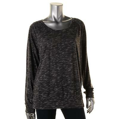 Ideology 4483 Womens Gray Space Dye Long Sleeve Pullover Top Shirt S BHFO