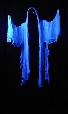 Suzy Flying Crank Ghost Animated Moving Halloween Prop FCG LED Haunted House