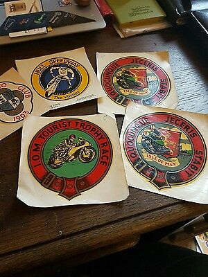 collection speedway and isle of man tt races transfare stickers vintage