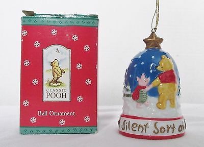 CLASSIC POOH Midwest Cannon Falls Ceramic BELL ORNAMENT in Box FREE SHIP