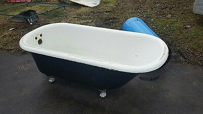 antique cast iron 5 foot tub shipping available