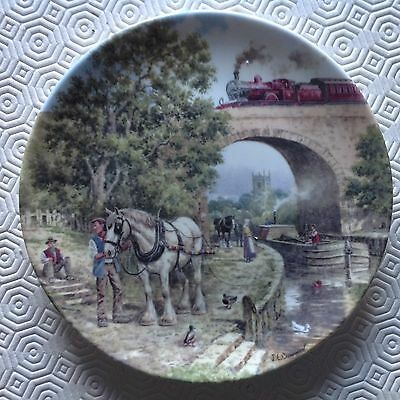 Bradford Exchange / Wedgwood Plate - Country Connections - Over the Canal
