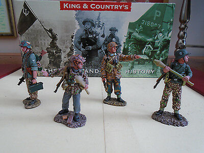 ( 5 ) K&c 4 German Soldiers  Rom The Wwii Range  (2003)