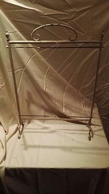 Antique Brass Fire Screen, Shabby Chic