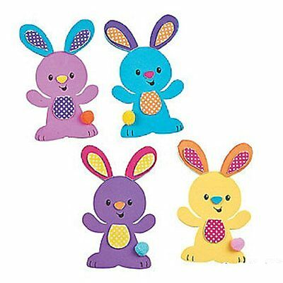 """Easter Bunny Magnet Foam Craft Kit ~ Makes 12 Magnets ~ Approx. 3"""" X 4 3/4"""" ~ ~"""