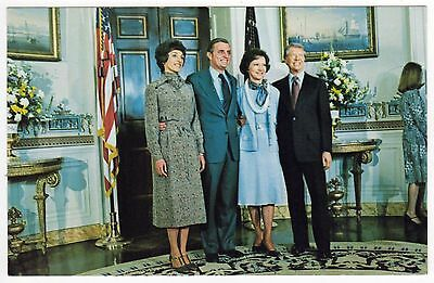 PRESIDENT JIMMY CARTER Political POSTCARD PC Walter Mondale FIRST LADY Wives
