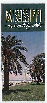 1950s MISSISSIPPI Vintage TRAVEL BROCHURE Tourism MS Gulf RIVER Hospitality