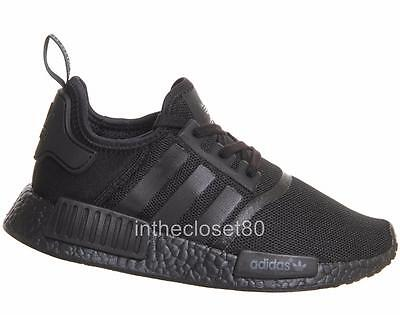 finest selection 788c0 a4460 ADIDAS NMD R1 Triple Black S31508 Boost Mens Trainers
