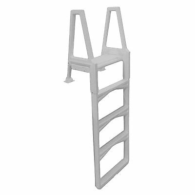 "Confer Sturdy Adjustable Above Ground Swimming Pool Ladder 48-56"" Tall 