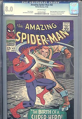 Amazing Spider-man #42 Marvel Comics CGC 8.0 VF 11/66 OFF-WHITE PAGES