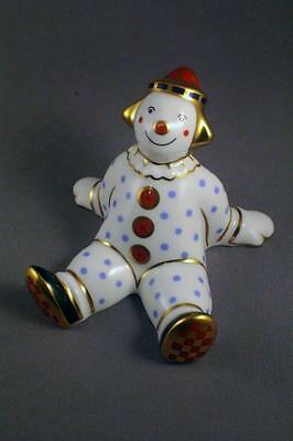 """1st QUALITY SWEET ROYAL CROWN DERBY PAPERWEIGHT """"SPOTTY CLOWN"""" c.2003 - PERFECT"""