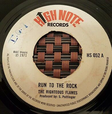 "The Righteous Flames Run To The Rock UK 7"" Listen !"