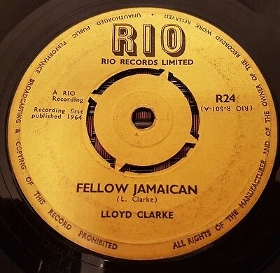 "Lloyd Clarke Fellow Jamaican UK 7"" Listen !"