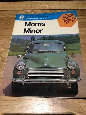 Pearsons Car Servicing Owners Manual Morris Minor Car