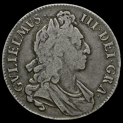 1696 William III Early Milled Silver Octavo Crown – First Bust #2