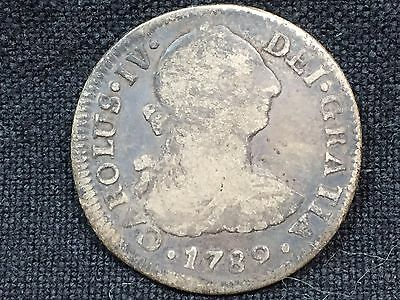 T2: World Coin Mexico 1789 2 Reales
