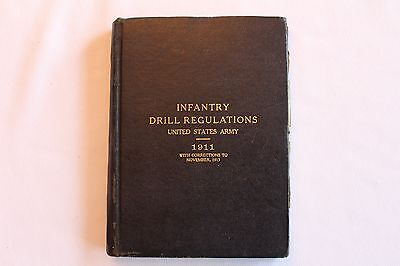 Rare Original 1911-1913 Pre Wwi Infantry Drill Regulations Named Soldier Book