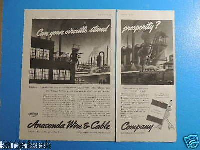 1937 Anaconda Wire & Cable Company - Rolf Klep - 1.5 Page Art Ad