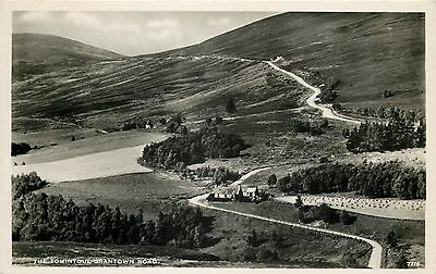 p1098 The Tomintoul - Grantown Road, Scotland postcard RP