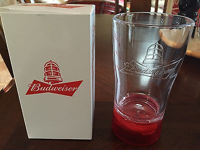 Limited Branded Budweiser Goal-Synced Beer Glass Red Light Nhl Hockey